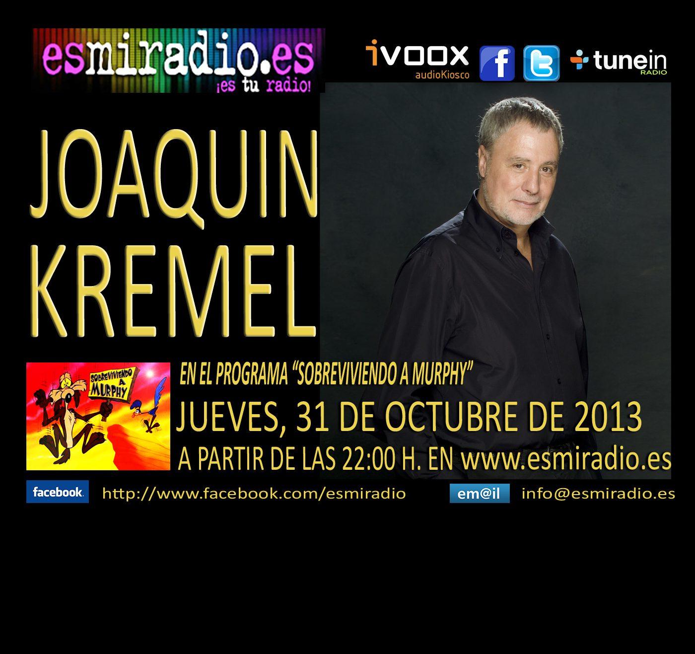 Hoy 31 de Octubre del 2013 Joaquín Kremel con los Murphy