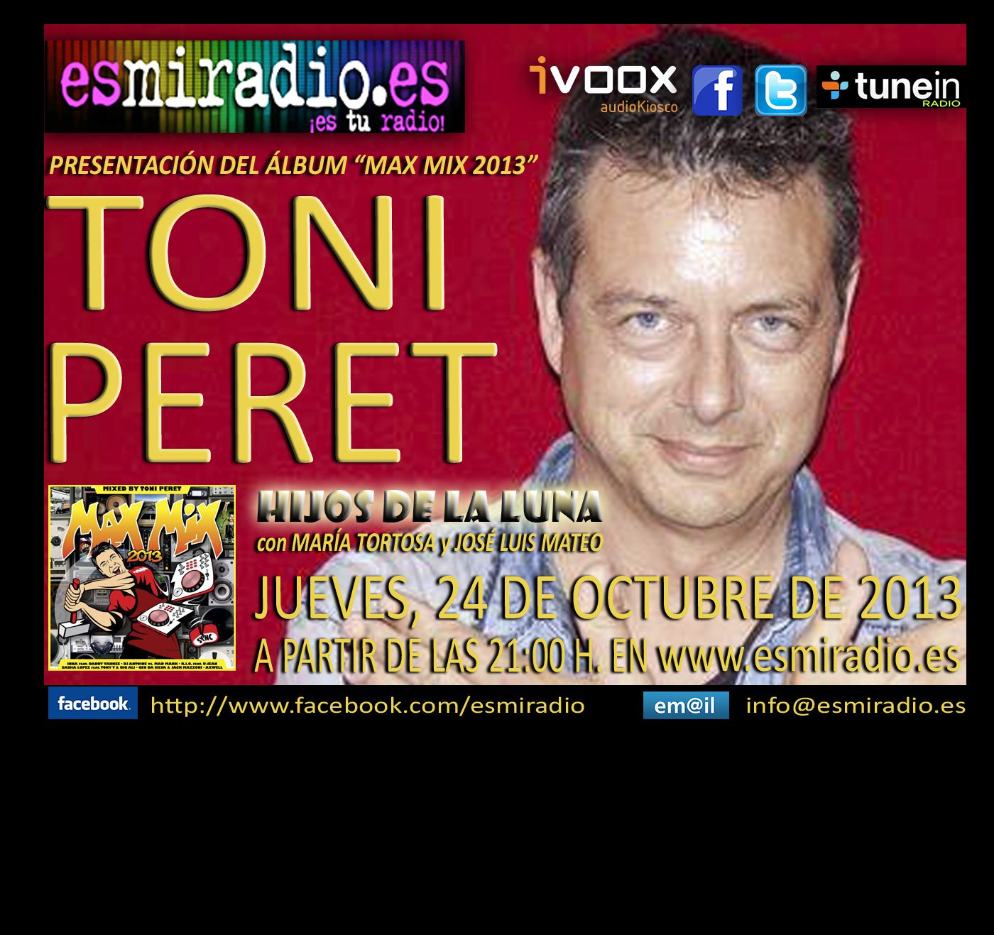 "TONI PERET EN ESMIRADIO CON ""IT'S YOUR TIME"""