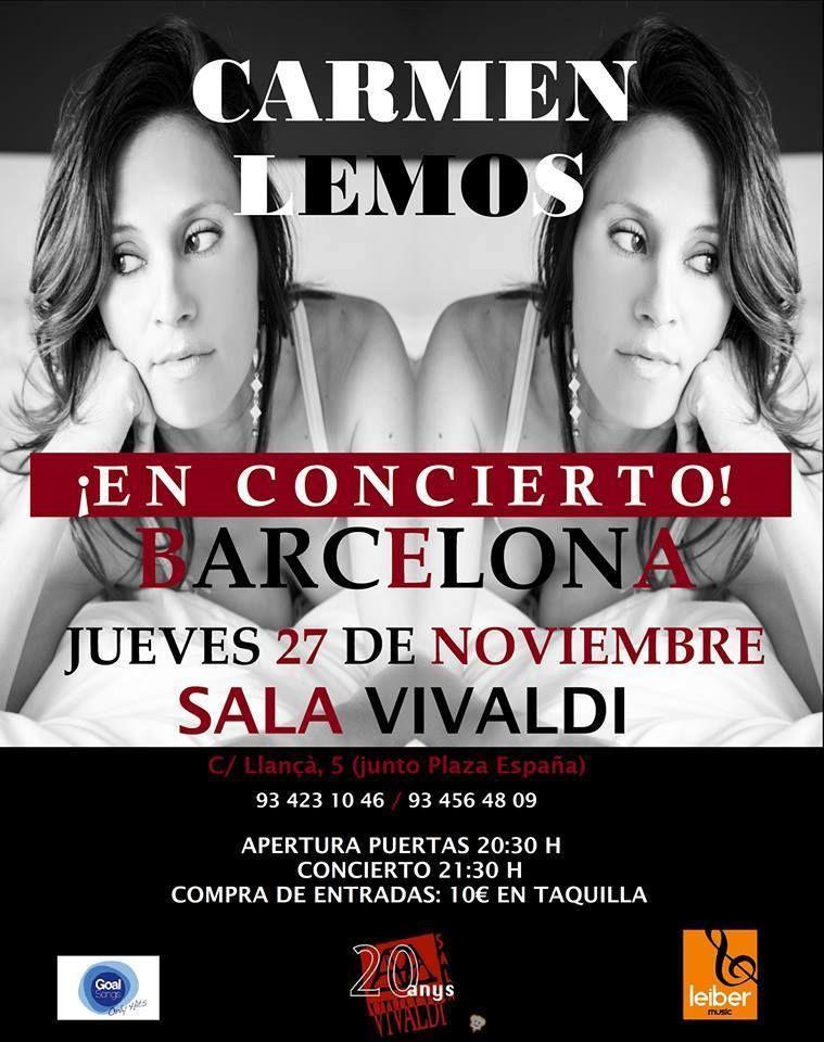 Camen Lemos concierto sala Vivaldi Barcelona - esmiradio.es
