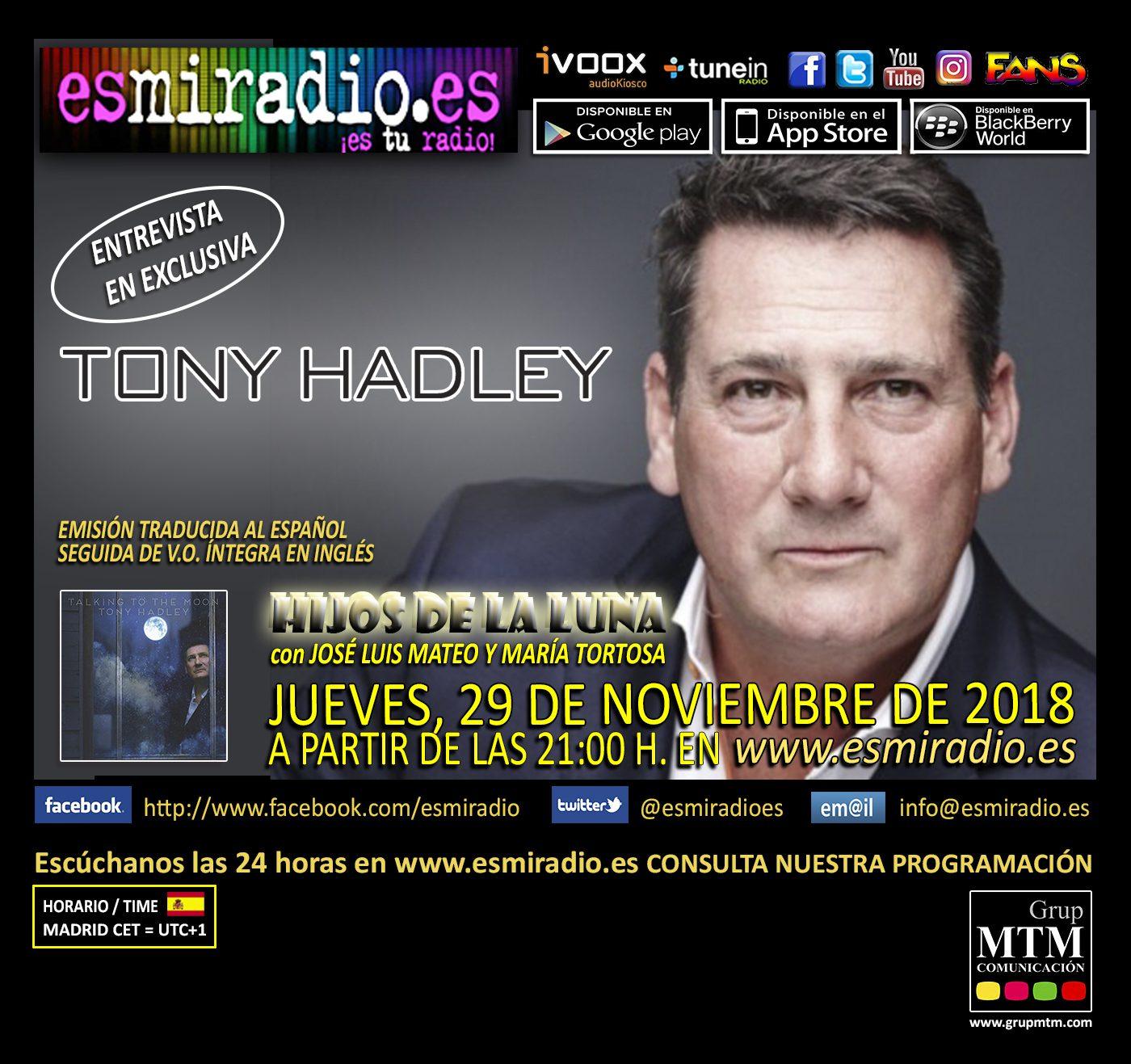 Tony Hadley 291118 esmiradio