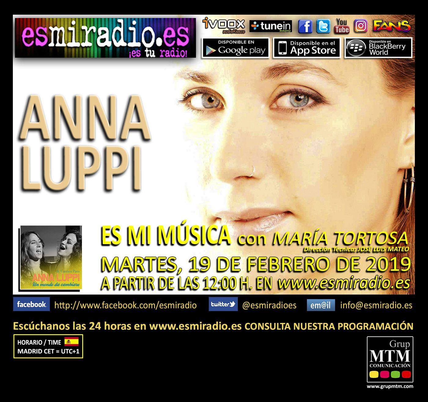 Anna Luppi en esmiradio.es el 19/02/19