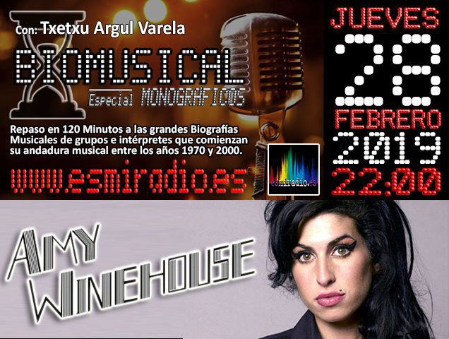 Biomusical Amy Winehouse 28/02/19 esmiradio.es