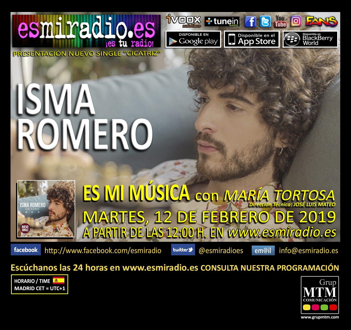 Isma Romero 120219 esmiradio - 12h