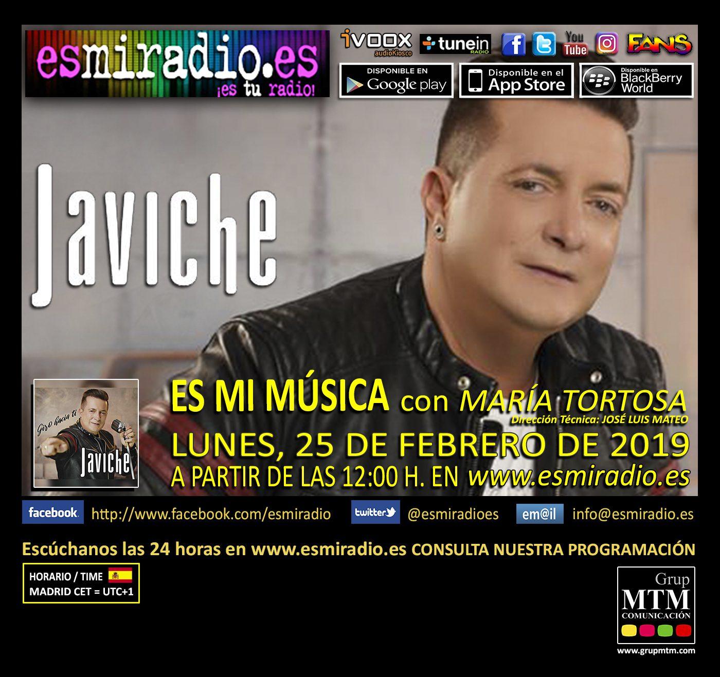Javiche en esmiradio.es el Lunes, 25 de Febrero de 2019