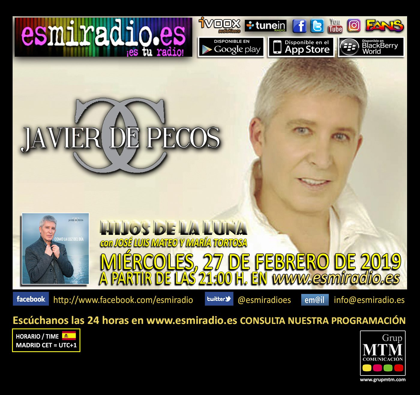 Javier de Pecos en esmiradio.es el Miércoles, 27 de Febrero de 2019