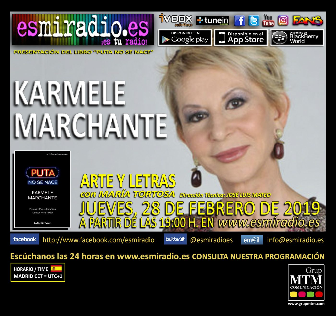 Karmele Marchante enesmiradio.es el Jueves, 28 de Febrero de 2019