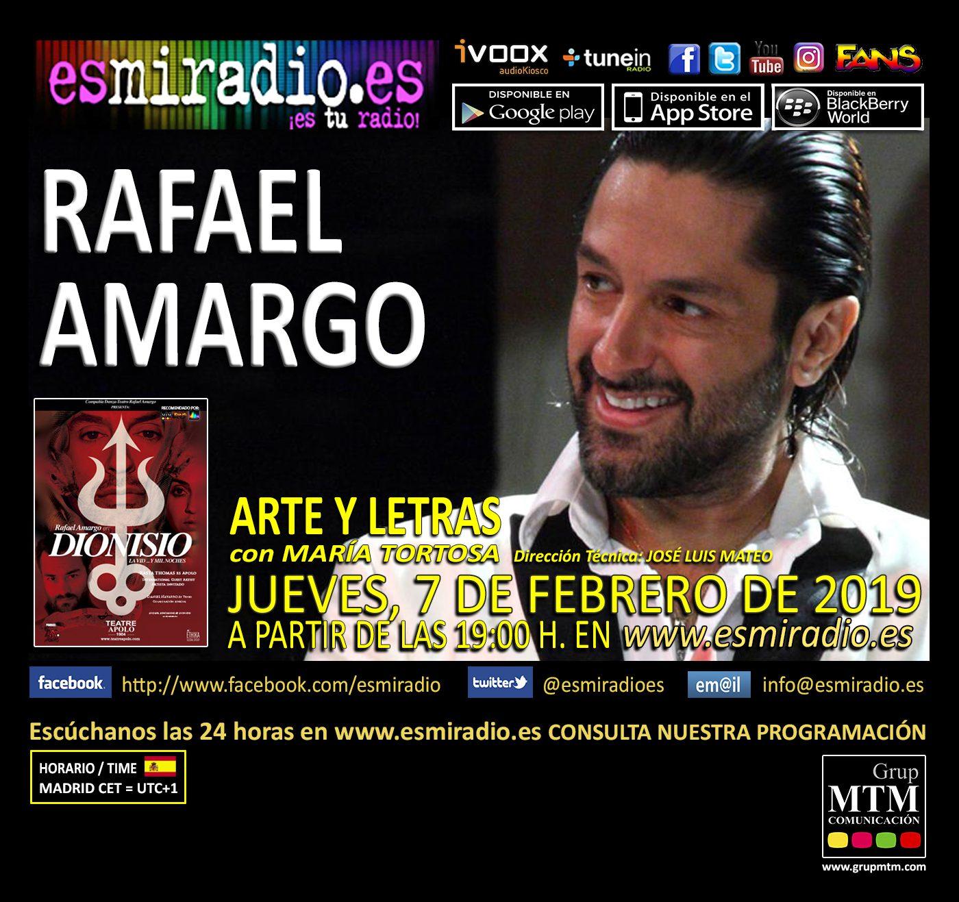 Rafael Amargo 070219 esmiradio - 19h
