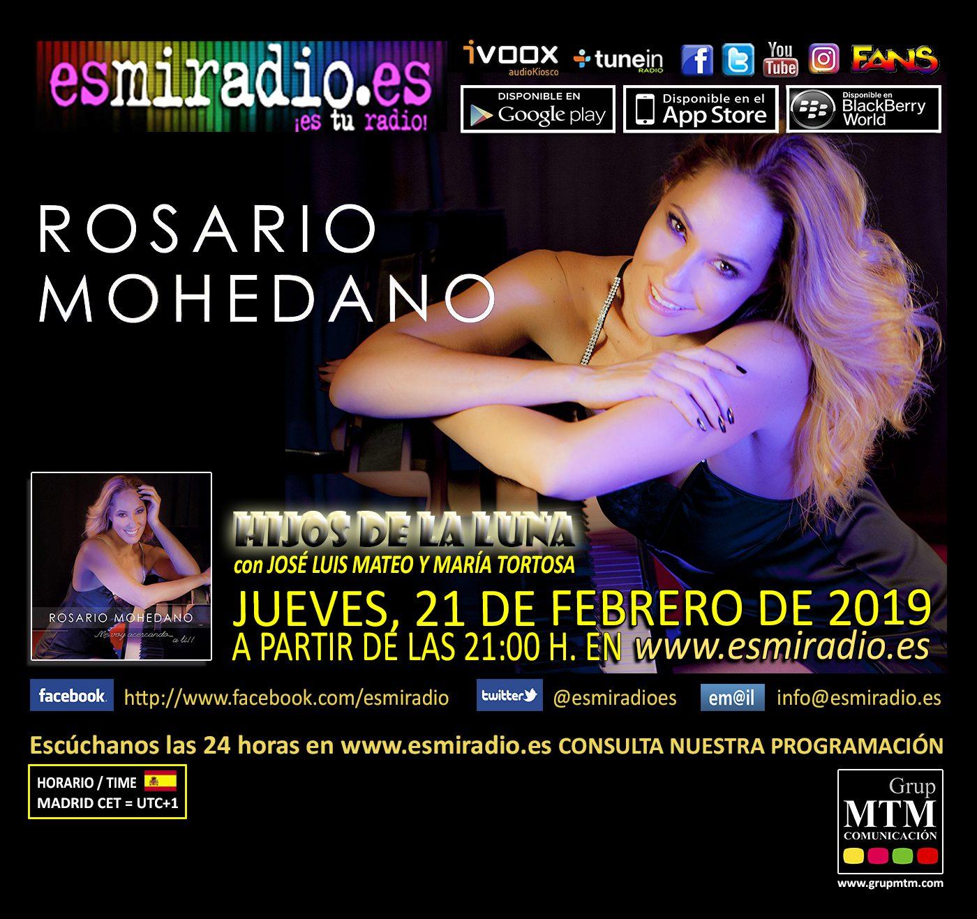 Rosario Mohedano en esmiradio.es el Jueves, 21 de Febrero de 2019