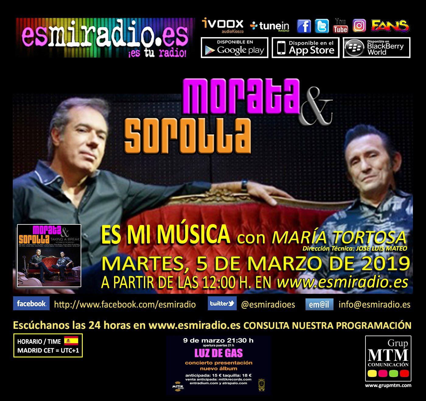 Morata & Sorolla en esmiradio.es el 05/03/19