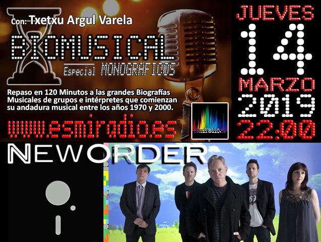Biomusical New Order el Jueves, 14 de Marzo de 2019