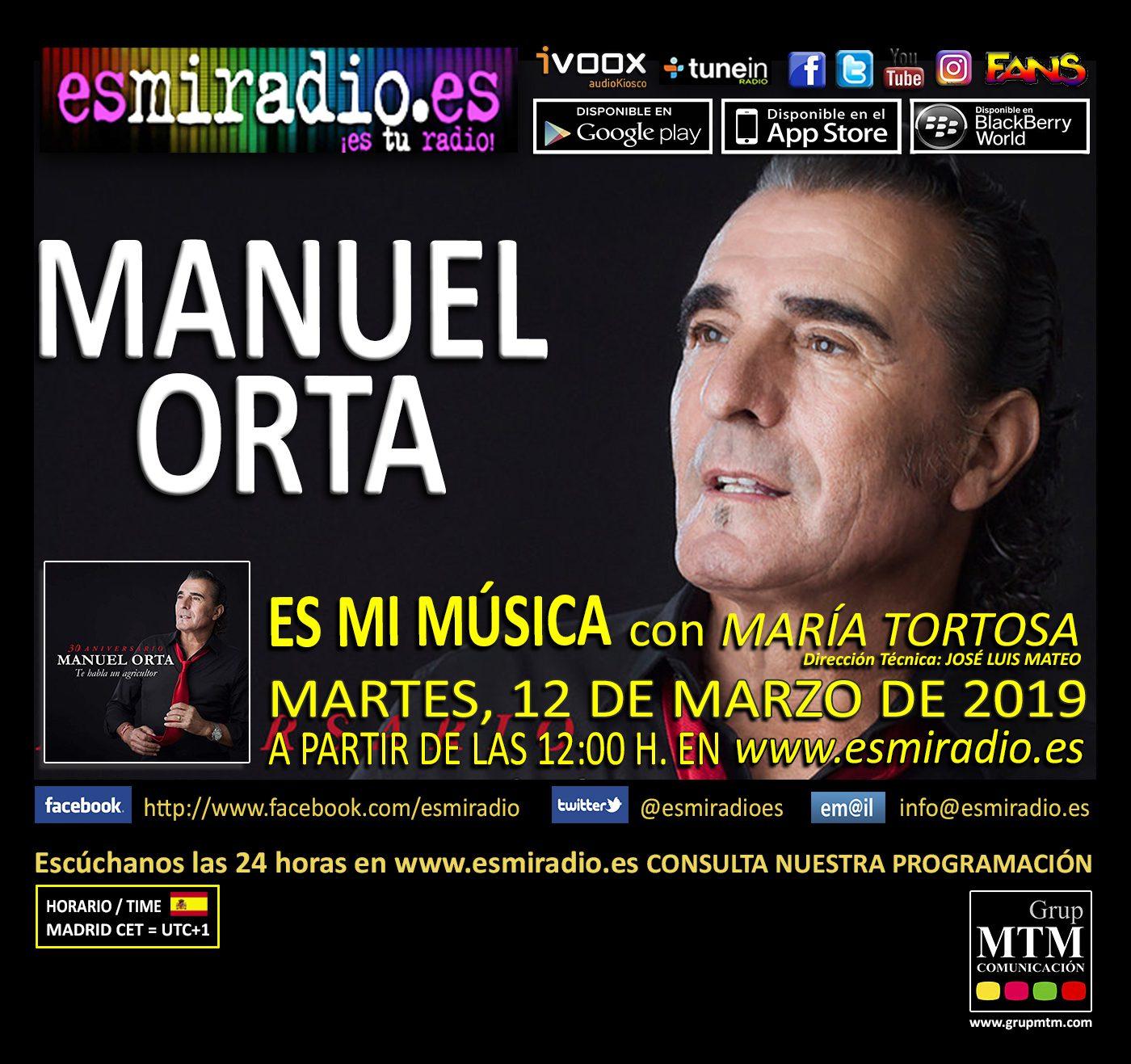 Manuel Orta en esmiradio.es el Martes, 12 de Marzo de 2019
