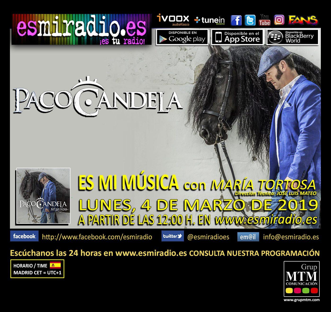 Paco Candela en esmiradio.es el 04/03/19