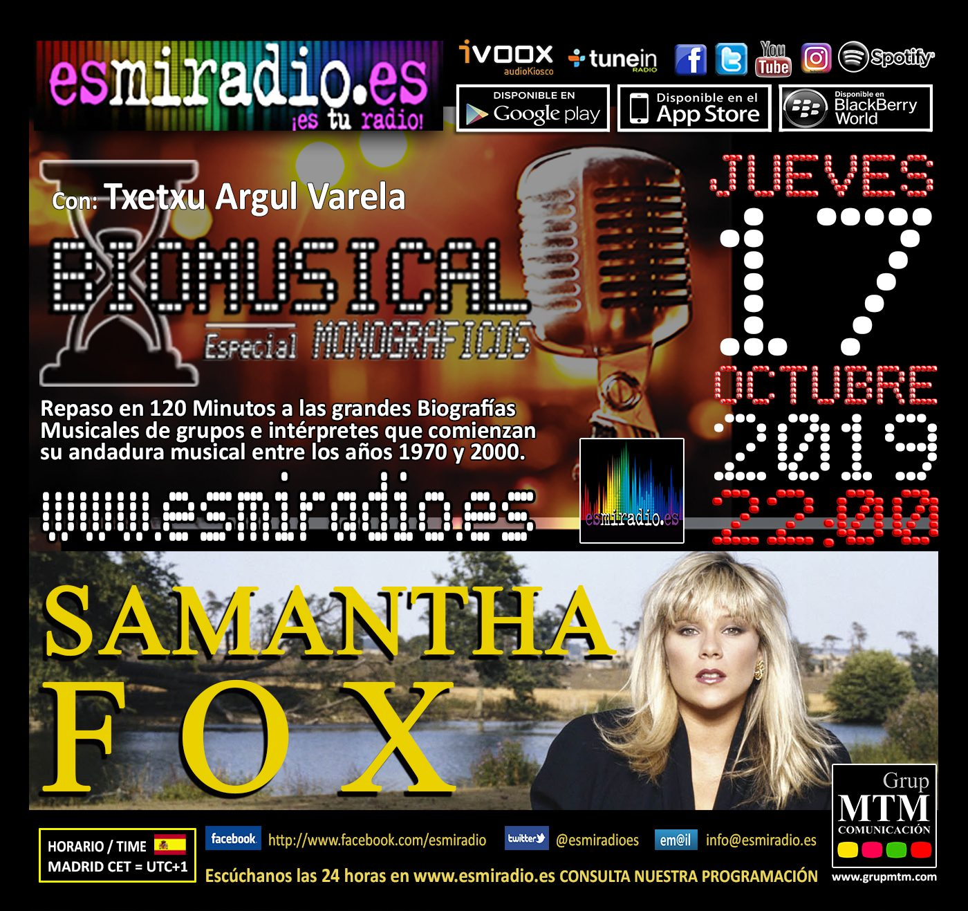 Biomusical Samantha Fox esmiradio.es