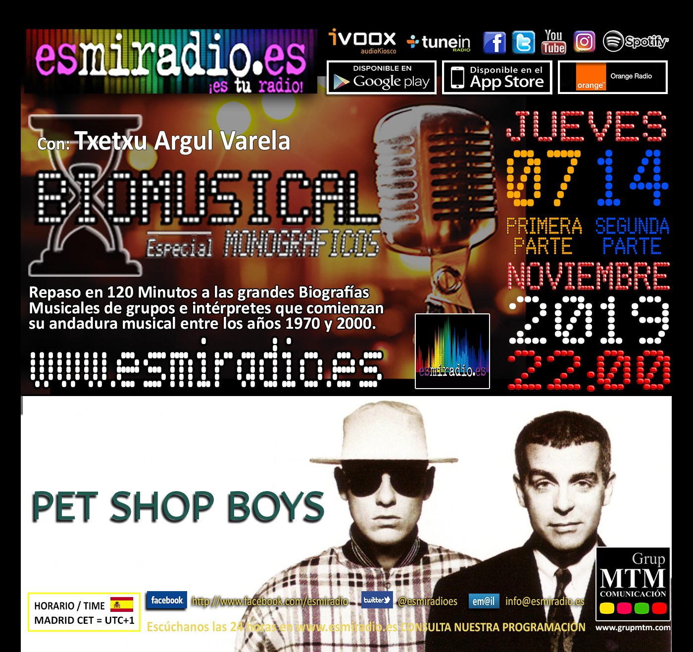 Biomusical Pet Shop Boys esmiradio