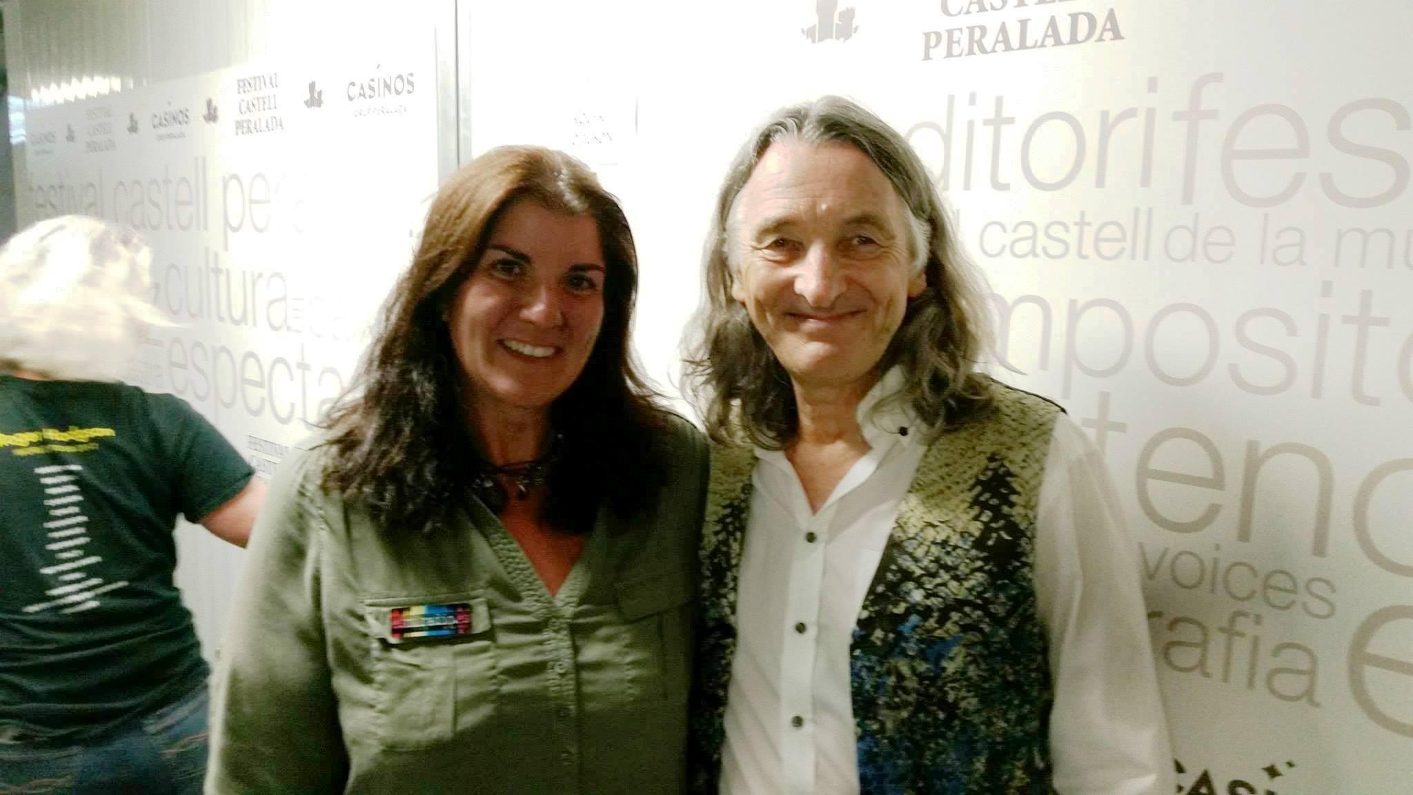 Roger Hodgson y María Tortosa